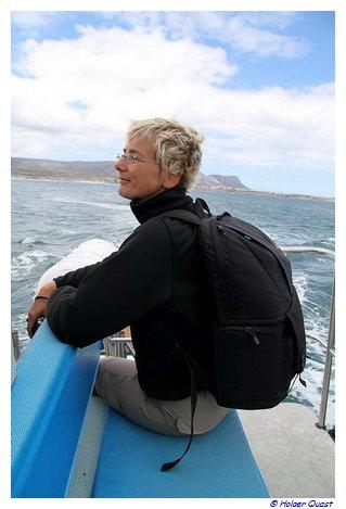 Südafrikanische Walbeobachtung vom Oberdeck aus